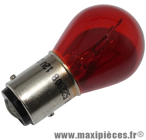 Déstockage ! Ampoule 12v 18w/5w rouge BAY15D (à l'unité)