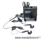 Déstockage ! Intercom moto 2 personne BIGNIC avec mode radio FM
