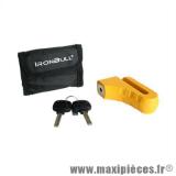 Antivol bloque disque ironbull verrou Ø10mm pour moto scooter cyclomoteur *Déstockage !