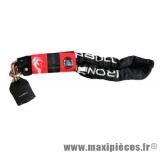 Déstockage ! Antivol chaîne Ironbull 10x10x1200 avec cadenas a clé pour moto, maxi-scooter, cyclomoteur