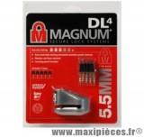 Déstockage ! Antivol bloque disque Magnum (5.5mm)