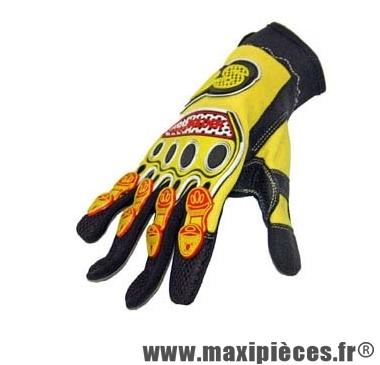 Déstockage ! Gants cross model Bolder mi-saison Jaune Taille L (Produits pour sport/loisir)