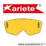 Écran jaune pour Masque/Lunette cross Ariete Aria, Terra, Fuoco, OKI DOKI, Glamour et Palladium  *Déstockage !