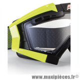 Déstockage ! Support fixation élastique pour Masque/Lunette cross Ariete Riding Crows jaune fluo
