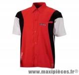 Déstockage ! Chemise Hebo coach paddock rouge pour motard mécanicien taille M