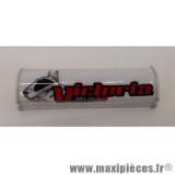 Mousse de guidon Victoria Bull blanche 15cm pour moto/50 à boite/scooter/mobylette/quad *Déstockage !