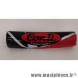 Mousse de guidon Conti rouge/noir 19.5cm pour moto/50 à boite/scooter/mobylette/quad *Déstockage !