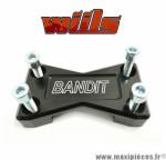 Platine de pontets de guidon noir WIILS pour Suzuki Bandit 1200cc *Déstockage !