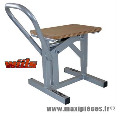 LEVE MOTO / TABOURET UNIVERSEL DE MARQUE WIILS CAPACITE MAX : 135 KG (à levier hauteur de 31cm à 41cm) *Déstockage !
