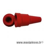 Porte bougie rouge avec bouchon à clipser, pièce pour Scooter, Mécaboite, Mobylette, Maxi Scooter, Moto, Quad *Déstockage !