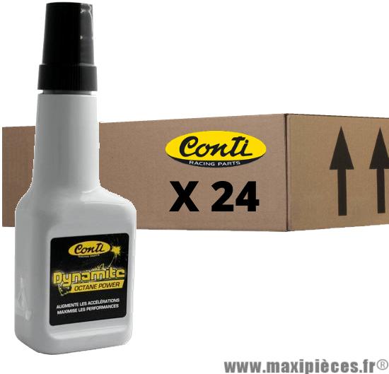 24 x 125 ml d'additif essence dynamite octane power Conti 125ml 2/4 temps *Déstockage !