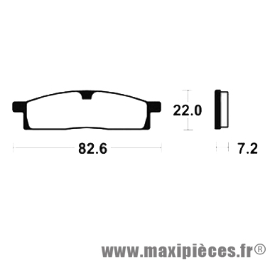 Déstockage ! Plaquette de frein Bendix pour Yamaha YZ85 de 2002 à 2016