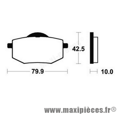Déstockage ! Plaquette de frein AP Racing Yamaha 535 Virago 1988-1995