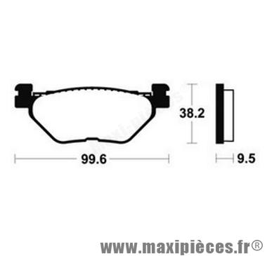 Déstockage ! Plaquette de frein arrière Bendix Yamaha 1300 FJR 2001-2013
