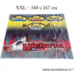 Bâche XXL / Enseigne publicitaire / Devanture de magasin CONTI & VICTORIA BULL (348x247) Déco garage ou autre... (occasion : modèle d'éxpo) *Prix discount !