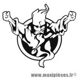 Autocollant/stickers sorcier/Festival Thunderdom noir (L22xH19,5cm) * Déstockage !