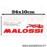 Déstockage ! Autocollant / stickers Malossi rouge et blanc (24x10cm)