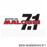 Déstockage ! Autocollant / stickers Malossi 7.1 Motor Oil (14.5x6.5cm)