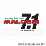 Autocollant / stickers Malossi 7.1 Racing full Synt (14.5x7.5cm) *Déstockage !
