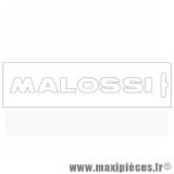 Déstockage ! Autocollant / stickers Malossi Blanc (14x1.5cm)