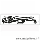 Déstockage ! Autocollant / stickers Malossi lion noir (14x3.3cm)