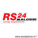 Prix discount ! Autocollant RS 24 Racing suspension Malossi rouge (14 x 4,5 cm) à l'unité
