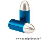 Déstockage ! Bouchon de valve en forme de douille bleu (paire)