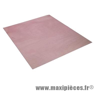 Déstockage ! Grille décoration Rouge anodisé 30x30cm