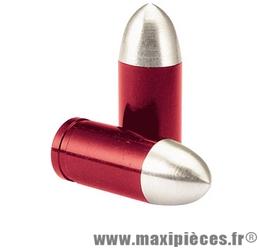 Déstockage ! Bouchon de valve en forme de douille rouge (paire)