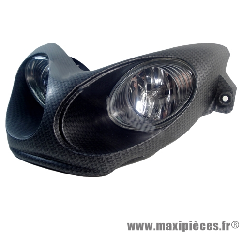 prix discount ! phare double optique imitation carbone pour mbk nitro/yamaha aerox