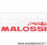Prix discount ! Planche d'autocollants grand format (25x10cm) Malossi 1 rouge et 1 blanc