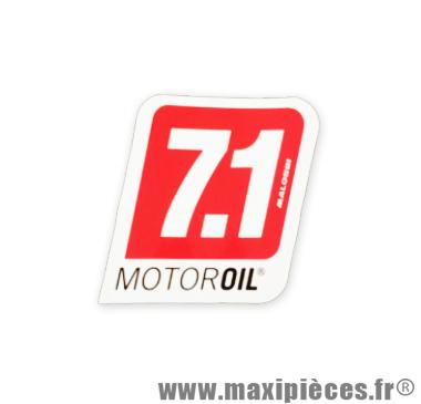 Prix discount ! Maxi autocollant 7.1 Motor Oil de Malossi (47,6 x 45 cm) à l'unité