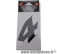 Déstockage ! numéro de course autocollant noir (n°4) H 9cm