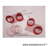 Déstockage ! Prise d'air ovale et grille décoration rouge