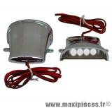 Déstockage ! Lumière/éclairage chromé diode blanche déco/tuning pour dessous de tablier