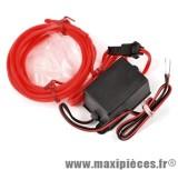Prix discount ! Neon/fil flexible spoke éclairant rouge environ 2mètre éclairage en continu 12v