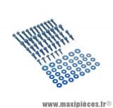 Déstockage ! Kit vis carrosserie bleu pour Peugeot TKR, Speedfight, Squab (x47)