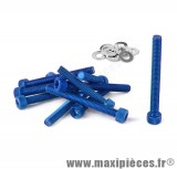 Déstockage ! Kit vis carter btr bleu pour peugeot buxy trekker speedfight 1/2 (x11)