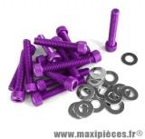Déstockage ! Kit vis carter btr violet pour piaggio/gilera typhoon (x15)