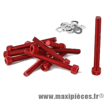 Déstockage ! Kit vis carter btr rouge pour peugeot buxy trekker speedfight 1/2 (x11)