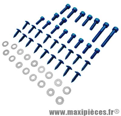 Déstockage ! Kit vis carrosserie bleu pour mbk/yamaha Rocket NG (x35)