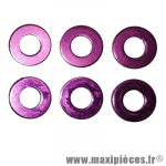 Rondelles aluminium Diamètre 6mm - 6 pièces - Violet *Déstockage !