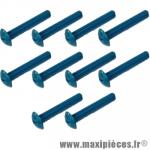 Lot de 10 vis Bleu - tête bombé - cruciforme - 6x40mm *Déstockage !
