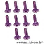 Lot de 10 vis Violet - tête bombé - cruciforme - 5x15mm *Déstockage !