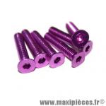 Lot de 6 vis Violet - conique tête plate - clé Allen - 6x30mm *Déstockage !
