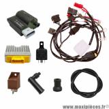 Déstockage ! pack électrique pour moteur Piaggio 100cc hi-per 4ss automatique (faisceau, cdi bobine, régulateur, relais)
