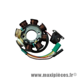 Stator allumage pour scooter chinois gy6 139qmb 4t, peugeot kisbee, vclic (8 poles 5 fils) * Prix spécial !