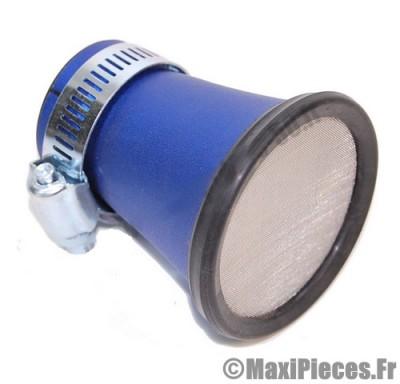 prix discount ! filtre à air cornet bleu ø26mm pour carburateur phbg