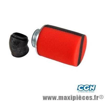 prix discount ! filtre à air Ø28/35mm mousse cylindrique rouge bande noir (ø70mm longueur 90mm)