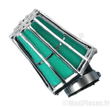 Déstockage ! filtre à air hexagonal Ø28/35mm (coude 45°) pour 50 à boite/scooter/quad/moto/mobylette...